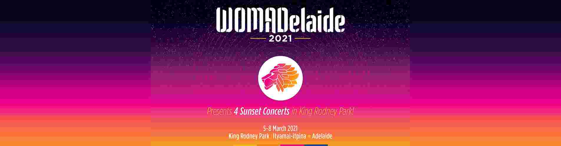 WOMADelaide March Fri 5 March to Mon 8 March 2021 header image